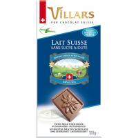 Швейцарский молочный шоколад Villars, без добавления сахара
