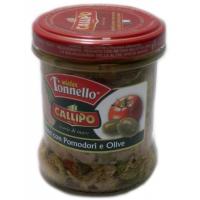 """Тунец в оливковом масле с томатами и оливками """"MISTER TONELLO"""" (Tonno al olio di oliva con pomodori e olive)"""