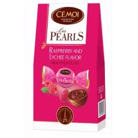 Шоколадные конфеты Cemoi «PEARLS» с начинкой «малина-личи»