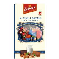 Горький и молочный шоколад Villars ассорти в мини-плитках