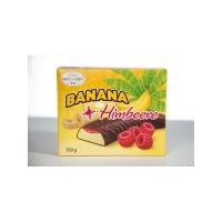 Банановое суфле Hauswirth с малиновым джемом в темном шоколаде