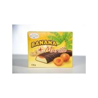 Банановое суфле Hauswirth с абрикосовым джемом в темном шоколаде