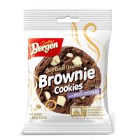 Bergen шоколадное печенье с кусочками темного и белого шоколада «Брауни»