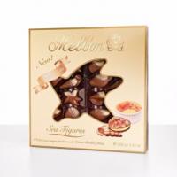 Морские фигуры: конфеты из молочного и белого шоколада с начинкой крем-брюле
