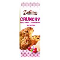 Хрустящее печенье с клюквой и кусочками белого шоколада Delisana
