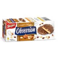 """Bergen печенье """"Obsession Caramel & Delicacies"""" с карамелью, сушеными фруктами и орехами в молочном шоколаде"""