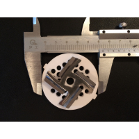 Набор для мясорубки PANASONIC, ELENBERG, VERLONI, SCARLET (керамическая решетка Д-53.5мм + ушки + нож квадрат 8мм)