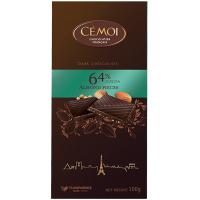 Горький шоколад Cemoi almond pieces 64% какао с миндалем